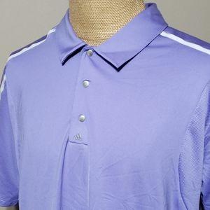 Adidas puremotion coolmax purple white golf polo